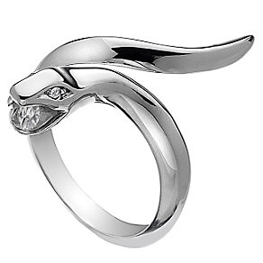 Hot Diamonds Veleno Silver Diamond Serpent Ring Size N - Product number 1450093