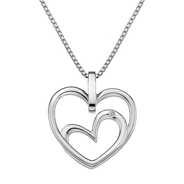 Hot Diamonds Forever Heart Sterling Silver Diamond Pendant - Product number 1450123