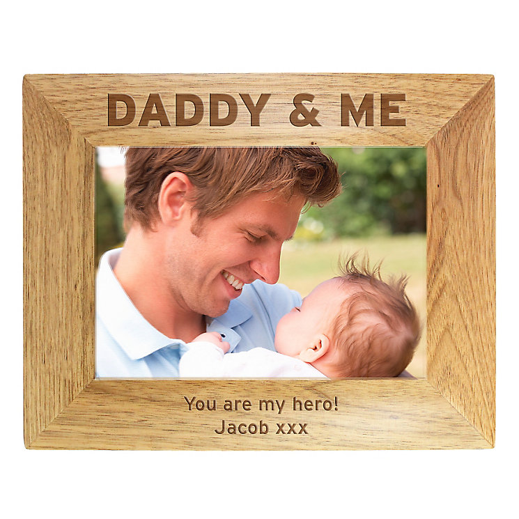 Personalised Wooden Fathers Day 9x9 Photo Frame - Product number 1450166