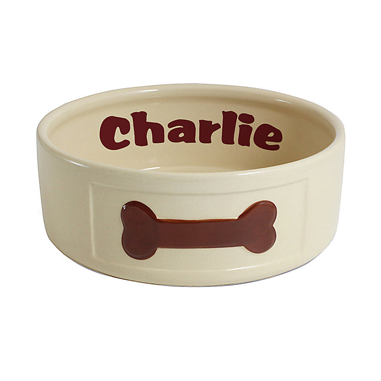 Personalised Large Brown Paws Dog Bowl - Product number 1450182