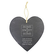 Engraved New Home Hanging Slate - Product number 1450247