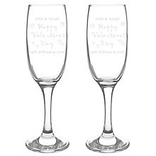 Personalised Happy Valentines Day Pair Of Flutes - Product number 1450271