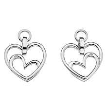 Hot Diamonds Sterling Silver Diamond Forever Heart Earrings - Product number 1450476