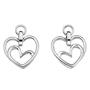 Hot Diamonds Sterling Silver Diamond Forever Heart Earrings - Product number 1450476