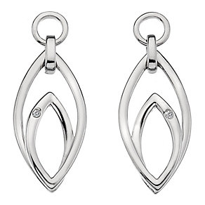 Hot Diamonds Sterling Silver Forever Marquise Drop Earrings - Product number 1450484