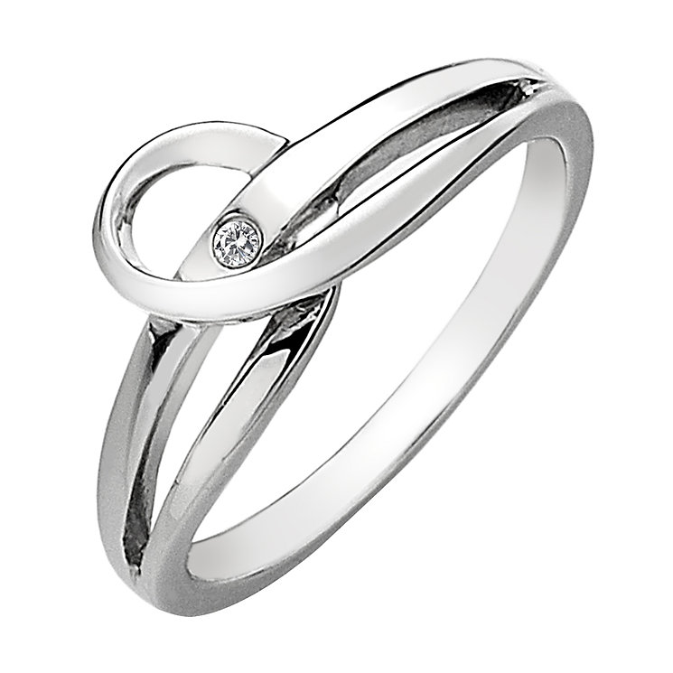 Hot Diamonds Sterling Silver Diamond Forever Ring Size L - Product number 1450506