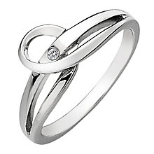 Hot Diamonds Sterling Silver Diamond Forever Ring Size P - Product number 1450514