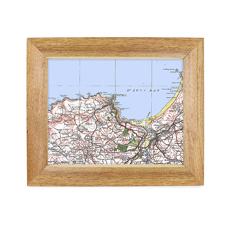 Personalised Postcode Map 10x8 Frame - Popular Edition - Product number 1450522