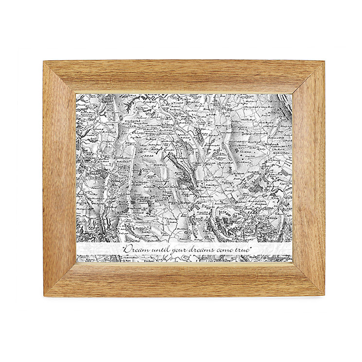 Personalised Old Series Postcode Map 10x8 Frame - Product number 1450654