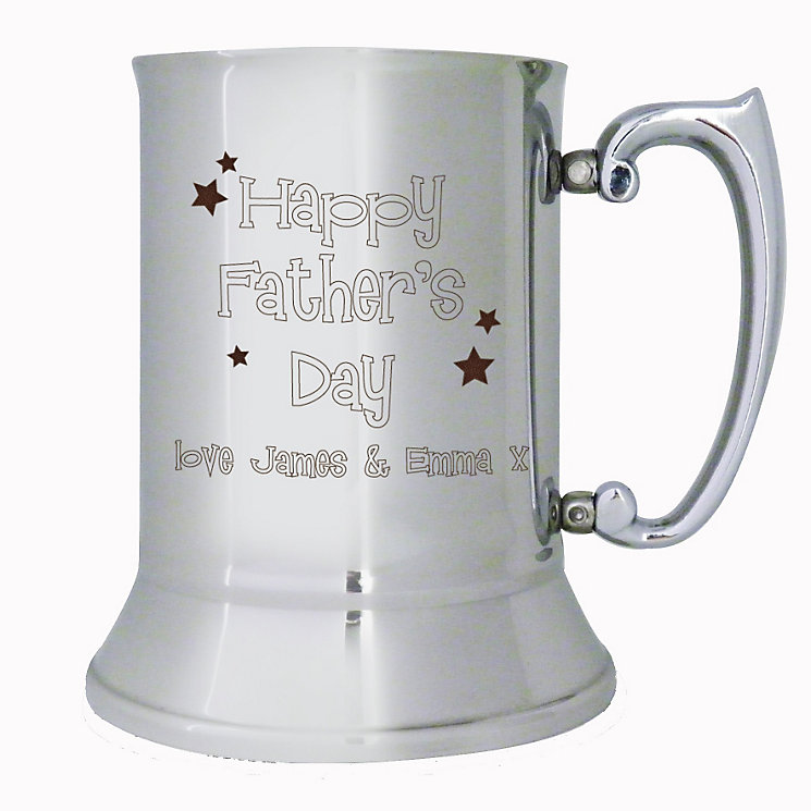 Engraved Stainless Steel Fathers Day Tankard - Product number 1450719