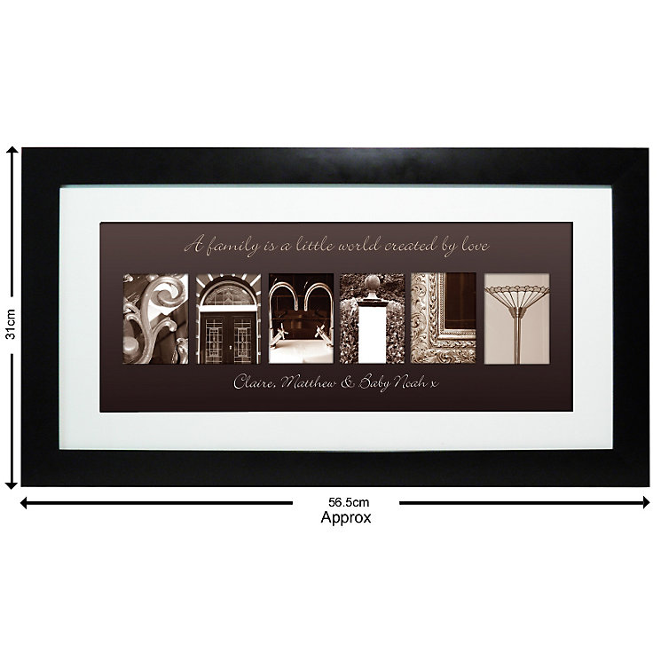 Personalised Affection Art Family Frame - Product number 1450891