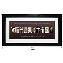 Personalised Affection Art Graduation Frame - Product number 1450905