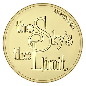 Mi Moneda large gold-plated sky coin - Product number 1451855