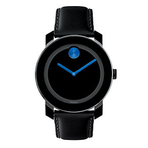 Movado Bold men's blue dot black ion-plated strap watch - Product number 1452274