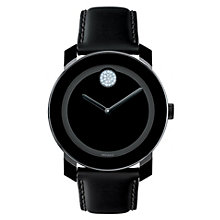 Movado Bold men's black ion-plated stone set strap watch - Product number 1452290