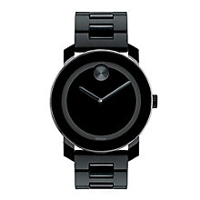 Movado Bold ladies' black ion plated bracelet watch - Product number 1452304