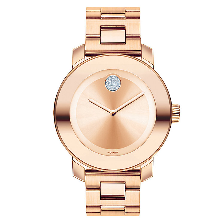 Movado Bold ladies rose gold plated bracelet watch - Product number 1452347
