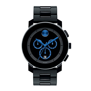Movado Bold men's blue dot black ion-plated bracelet - Product number 1452398