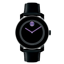 Movado Bold ladies' purple dot black ion-plated strap watch - Product number 1452401