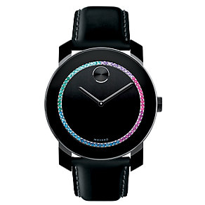 Movado Bold ladies' black ion-plated multi stone strap watch - Product number 1452495