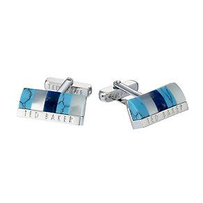 Ted Baker Sheltri blue cufflinks - Product number 1454625