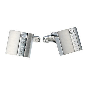 Ted Baker Symtal silver tone stone set square cufflinks - Product number 1454781