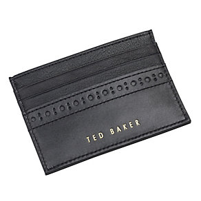 Ted Baker Drummon small black leather card holder - Product number 1454927