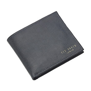 Ted Baker Aneagle men's grey leather bifold wallet - Product number 1454935