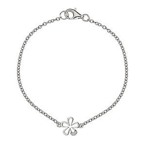 Hot Diamond Sterling Silver Flower Bracelet - Product number 1455737