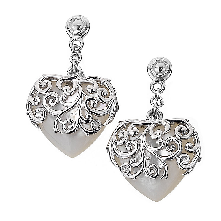 Hot Diamonds Sterling Silver Mother Of Pearl Drop Earrings - Product number 1455761