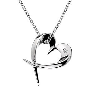 Hot Diamonds Large Sterling Sliver Entwined Heart Pendant - Product number 1455842