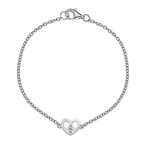 Hot Diamond Sterling Silver Peace Heart Bracelet - Product number 1456245
