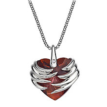 Hot Diamonds Sterling Silver Angel Heart Magma Pendant - Product number 1456512