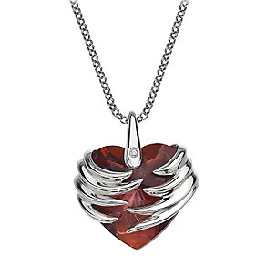 Hot Diamonds Sterling Silver Magma Heart Pendant - Product number 1456512