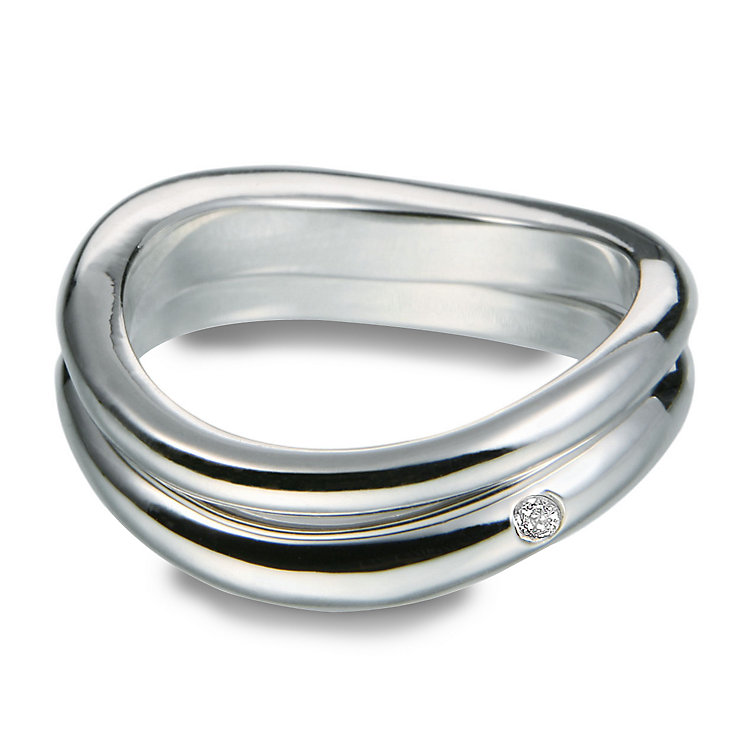 Hot Diamonds Sterling Silver Ring Size P - Product number 1456636