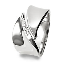 Hot Diamonds Sterling Silver Ring Size L - Product number 1456652