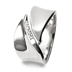 Hot Diamonds Sterling Silver Ring Size N - Product number 1456679