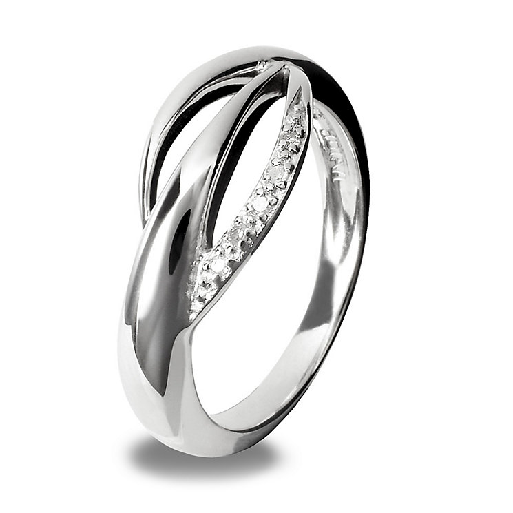 Hot Diamonds Sterling Silver Ring Size L - Product number 1456741