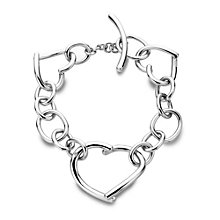 Hot Diamond Sterling Silver Large Heart T-Bar Bracelet - Product number 1457225