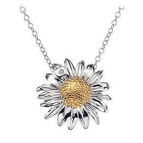 Hot Diamonds Silver & Gold Plate Daisy Pendant - Product number 1457381