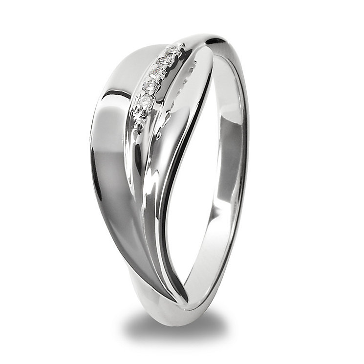 Hot Diamonds Sterling Silver Ring Size P - Product number 1457519