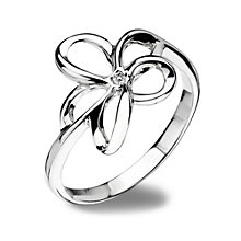 Hot Diamonds Sterling Silver Ring Size P - Product number 1457624