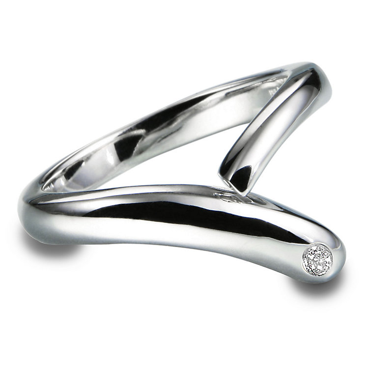 Hot Diamonds Sterling Silver Ring Size L - Product number 1457748