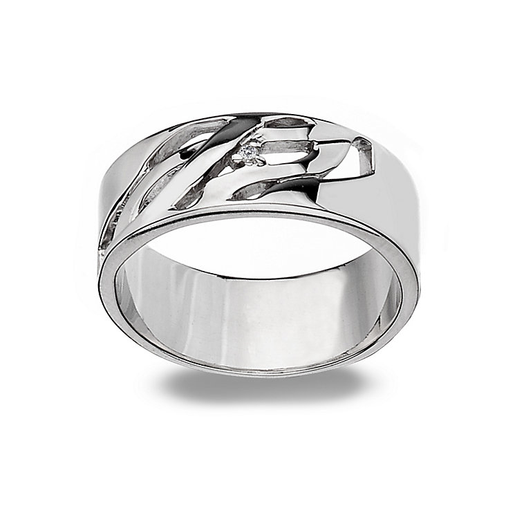 Hot Diamonds Sterling Silver Ring Size P - Product number 1457837
