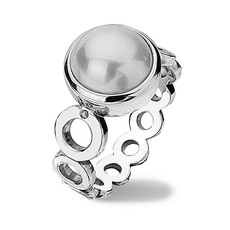 Hot Diamonds Sterling Silver Ring Size P - Product number 1457896