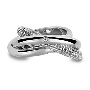 Hot Diamonds Sterling Silver Ring Size L - Product number 1457993