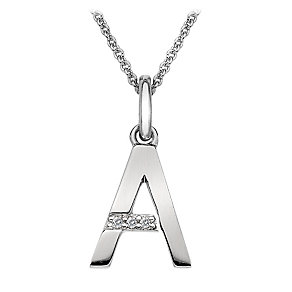 Hot Diamonds Sterling Silver A Pendant - Product number 1458043