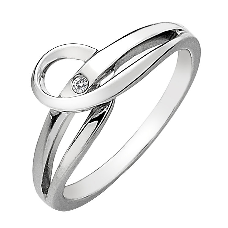 Hot Diamonds Sterling Silver Diamond Forever Ring Size N - Product number 1458051