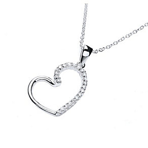 Buckley Heart Loop Silver-Plated Cubic Zirconia Pendant - Product number 1458671