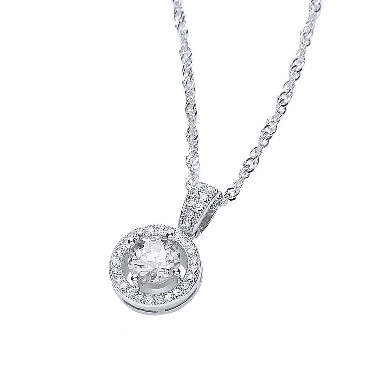 Buckley London Rhodium-Plated Crystal Roulette Pendant - Product number 1458698